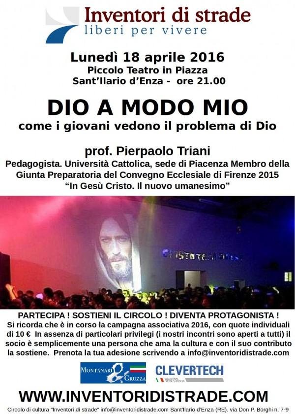 2016-04 - Dio a modo mio (Prof. Triani)