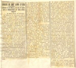 Articolo sull'inaugurazione