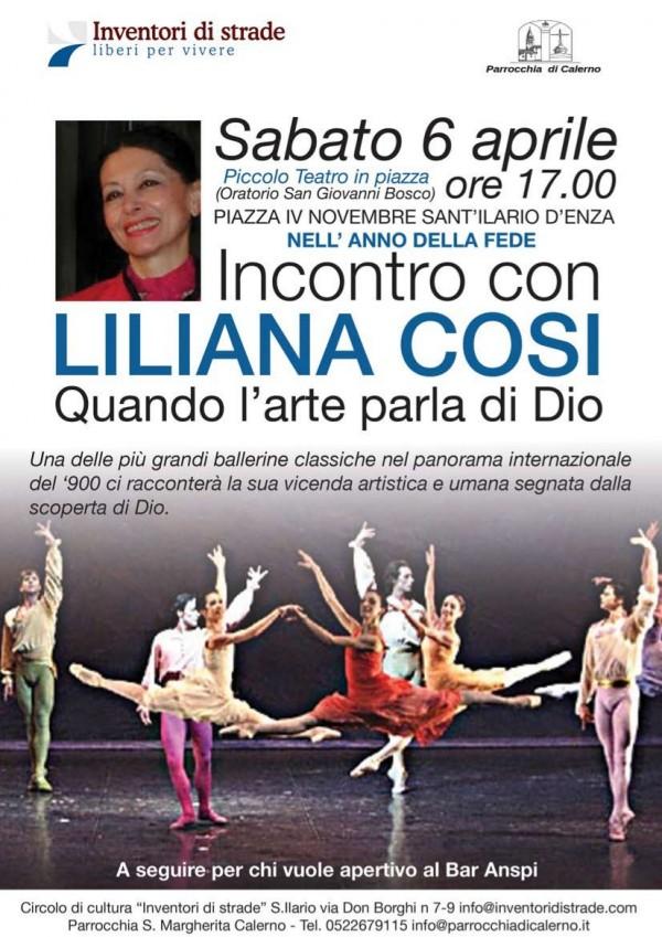 Incontro con Liliana Cosi - Locandina