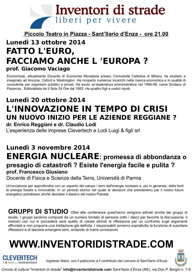 Eventi autunno 2014 - Locandina