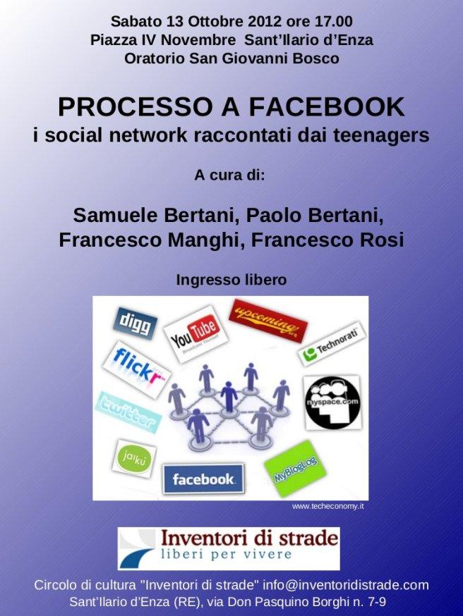 Processo a facebook - Locandina