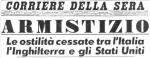 Armistizio - Corriere della Sera