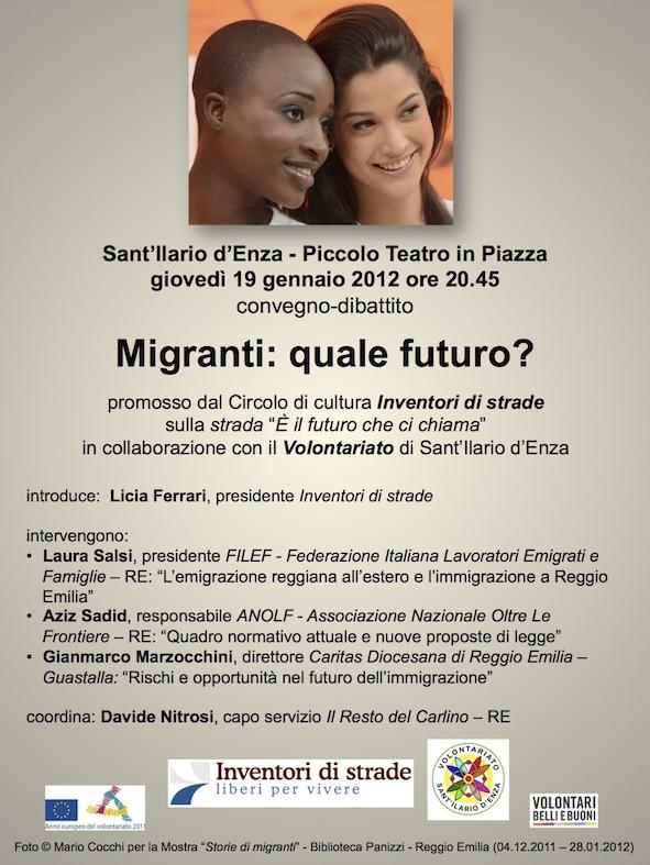 Migranti quale futuro? - Locandina